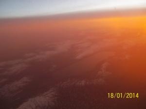 Subhanallah! pegunungan bersalju dan sunset kayseri