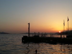 sunset in ortakoy